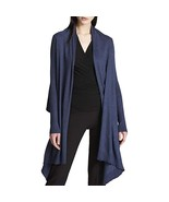 DKNY New Women's Hi-Low Open Front Cardigan Sweater Casual Denim Heather... - $27.71