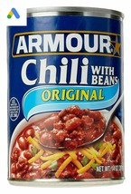 Armour  Chili With Beans, 14 oz. (18 Cans Included) - $49.50