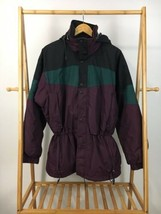 VTG Columbia Snowboard Ski Full Zip Retractable Hood Insulated Parka Jac... - $39.95