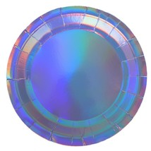 Holographic Paper Party Plates X 8   Party , Cake Pan, Paper Tray-in Dis... - $13.00