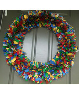 "AUTISM AWARENESS   24"" to 26"" Ribbon Wreath Custom Made For Each Individ... - $75.00"