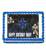 DALLAS COWBOYS FOOTBALL party edible cake image cake topper frosting dec... - $7.80