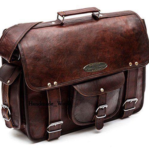 "Handmade_World Leather Messenger Bags for Men Women 18"" Men Briefcase Laptop Bag"