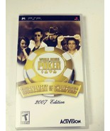 World Series of Poker Tournament of Champions 2007 Edition PSP GAMEW NEW... - $9.41