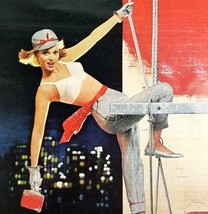Maidenform Bra 1963 Magazine Ad Painting The Town Red 13 x 10.5 Inches - $13.81