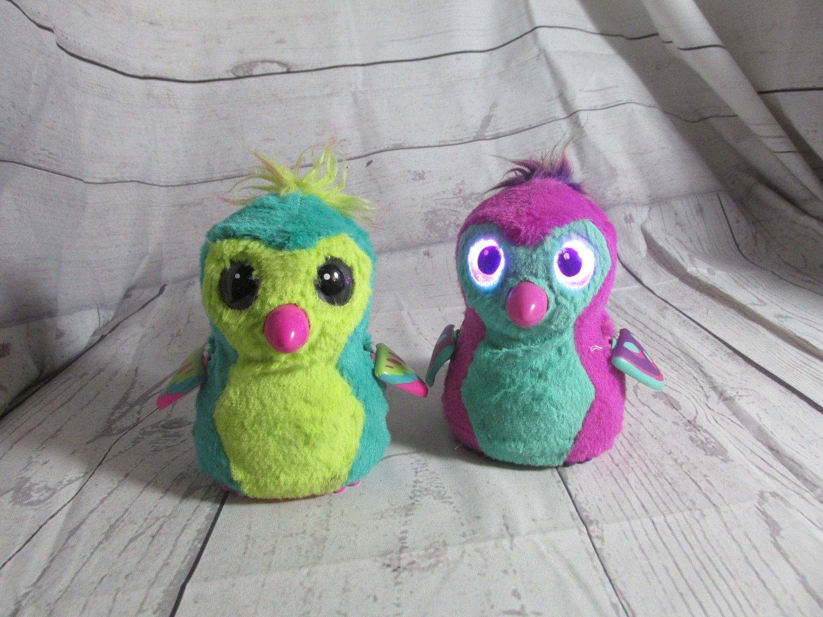 Lot 2 HATCHIMALS Purple/Green &  /pink Hatched From Egg No Box WORKS