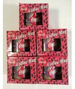 Coca-Cola Coffee Mugs Cups (5) Distributed by Play-by-Play New in Box - $17.47