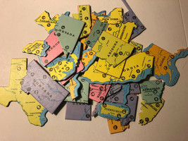 You pick the State Puzzle Piece Crafts flatback thick cardboard PLAIN SMALL - $5.00