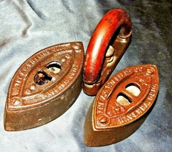 2 A.C. WILLIAMS Co. Sad Irons Number 50/55 AA20-7367LL Antique - $59.95