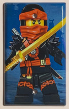 Ninjago Ninja Kai Light Switch Power Outlet wall Cover Plate Home decor image 3