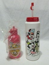 Lot of 2 Vintage Animaniacs Water Bottles NOS New Old Stock Yakko Wakko ... - $39.99