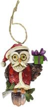 "Jim Shore Heartwood Creek Christmas Owl Stone Resin Hanging Ornament, 3.8"" - $28.87"