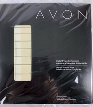 Sealed Avon Instant French Manicure Dry Nail Enamel Strips 16 count LINEN - $9.89