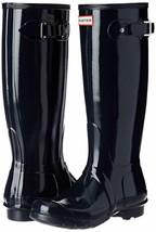 Hunter Original Tall Wellington Gummistiefel Marine Glanz Stiefel WFT1000RGL 7