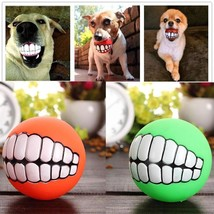 New Funny Pets Dog Puppy Ball Teeth Silicon Toy Chew Sound Dogs Play Toy... - $3.73