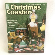 Plastic Canvas Christmas Coasters Pamphlet Ten Sets Fireplace Angel Orna... - $8.00