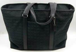 Coach Signature F77012 Black Weekender Xl Tote Bag Travel Luggage **Rare** - $166.24