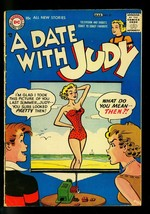 Date with Judy #57 1957- Swimsuit slide projector cover- DC Humor- G/VG - $55.87