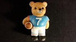 """Sports Teddy Bear Porcelain Figurine """"Football Bear"""" HOMCO - $6.00"""
