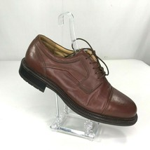 Florsheim At Ease Shoes Size 10M Brown Leather Oxfords Lace Up Dress 70681 - $52.14