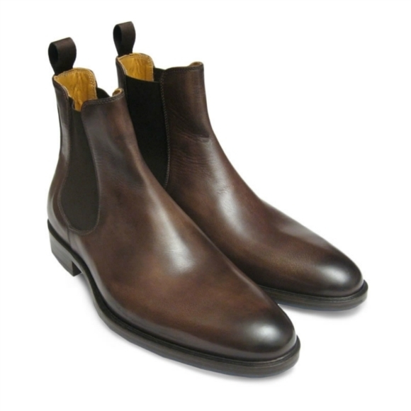 bb515a6a099 Handmade Men Brown Leather Chelsea Boots, and 50 similar items