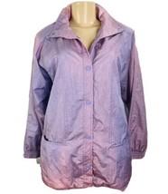 Vintage 90s Boutique Europa Windbreaker Jacket Women Size S Purple RP100379 - $24.74