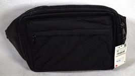 Zara Man Mens Accessories Messenger Bag Black Faux Leather Buckle M NWT - $34.65