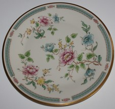 Lenox Morning Blossom Dinner Plate Pink Blue Yellow Flowers Gold Band - $17.57