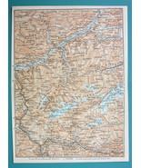 """1905 MAP Baedeker - AUSTRIA Innsbruck Mayrhofen & Environs 6 x 8"""" (15 x ... - $6.08"""
