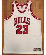 Authentic Nike 1997-98 Chicago Bulls Michael Jordan Home White Jersey 52... - $399.99