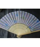 Pretty Silk Fan with Flowers Gold Stars Handheld Fan Folding Fans Asian ... - $9.99