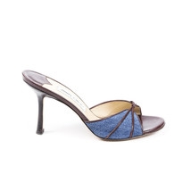 Jimmy Choo Denim Leather Slide Sandals SZ 39.5 - $105.00