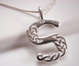 "Celtic Style Letter ""S"" Pendant 925 Sterling Silver Corona Sun Jewelry s - $16.82"