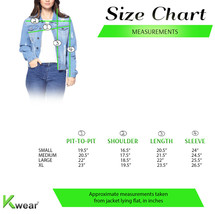 Women's Classic Distressed Cotton Denim Button Up Long Sleeve Jean Jacket image 2