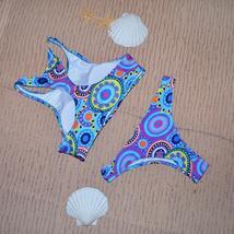 Low Waist Triangle Bikinis High Neck Brazilian Swimwear Swimsuit image 2