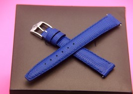 New Gucci 14 MM Lizard Pattern Watch Band - Royal Blue -  Genuine Leather - $24.95