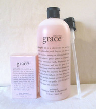 VTG Philosophy AMAZING GRACE 2 oz  EDT & 32 oz Perfumed Bath Gel Sealed HTF - $150.00