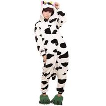Adults' Kigurumi Pajamas Milk Cow Onesie Pajamas Flannel Toison Black / ... - $23.00