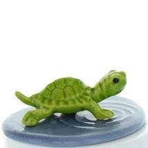 Fairy Garden Miniature Turtle in Pond Ceramic Figurine Set by Hagen Renaker