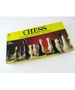 1989 Vintage Golden Chess Classic Game For 2 Players, 4833-5, Complete - £5.79 GBP