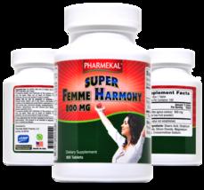 Pharmekal Super Femme Harmony 800 mg, Vitex, Chaste Tree Fruit, 100 Tablets - $14.99
