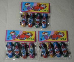 """TWELVE Pieces Made in Japan Vintage Tin Toy New 1.5"""" Bean Size Race Cars - $7.87"""