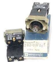 LOT OF 2 NEW TELEMECANIQUE ZB2-BW061 LIGHT MODULE ASSEMBLIES, ZB2BW061, ZB2-BE10