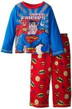 "DC Comics ""Super Friends"" Batman, Superman, Flash - Boys 2 Piece Pajama Set - $12.99"