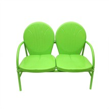 Rich Pacific Lime Green Retro Metal Tulip 2-Seat Double Chair - $162.10