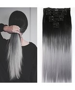 "Neverland Beauty 24""Synthetic Straight Two Tone Ombre Hairpiece Hair Ext... - $11.14"