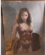 Wonder Woman Gal Gadot 20 x 30 Canvas Art Print With Wood Frame & Hard Back - $219.99