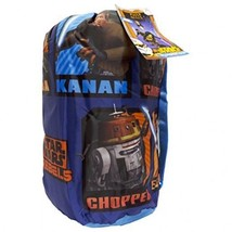 Star Wars Rebels Slumber Bag, Bonus Backpack with Straps, Chopper, Kanan... - $19.99