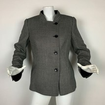 Armani Collezioni Blazer Jacket Wool Gray Textured Women Sz 8 Italy - $79.99