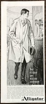 1961 Alligator Men's Coats PRINT AD Your Alligator Goes With You Everywhere - $10.69